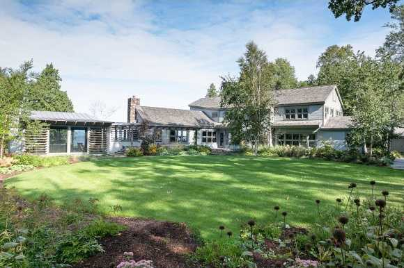 The tucked away property sits on 5.11 acres