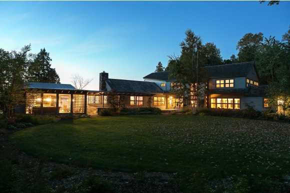The extremely private estate in Shelburne, boasts expansive gardens and spaces for entertaining.