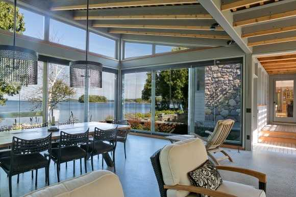 What could have been a sun room, has been transformed into a phenomenal dining room.