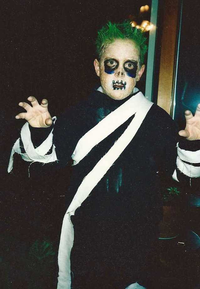 """This is NECN's Jack Thurston in the late 80s -- either '88 or '89. Jack had always wanted to be something scary for Halloween. Even today, appropriate for the theme of this photo, one of his favorite TV shows is AMC's """"The Walking Dead."""""""