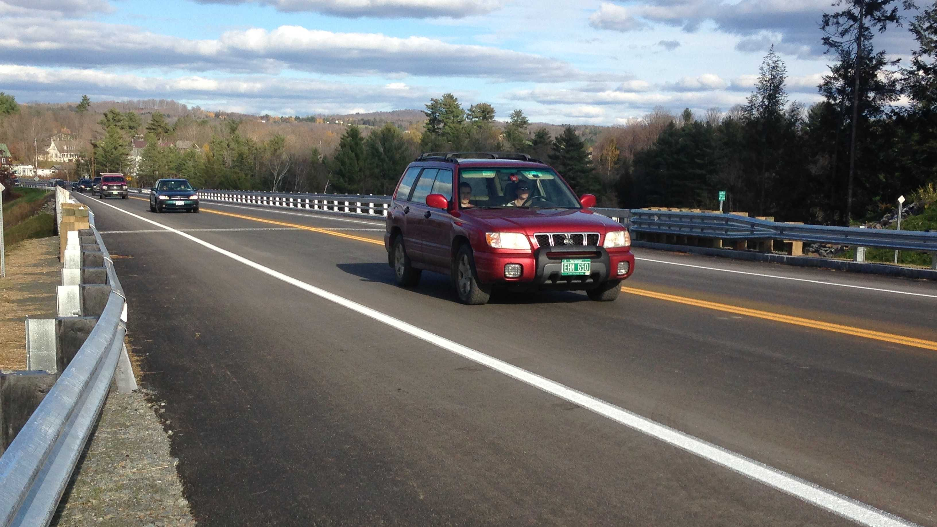 The $31 million Morrisville by-pass road opened Friday afternoon.
