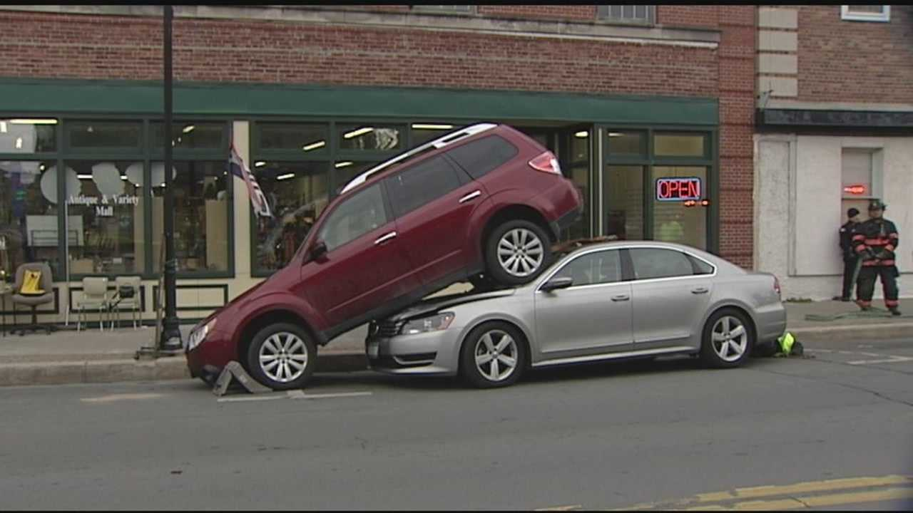 Car on top of car