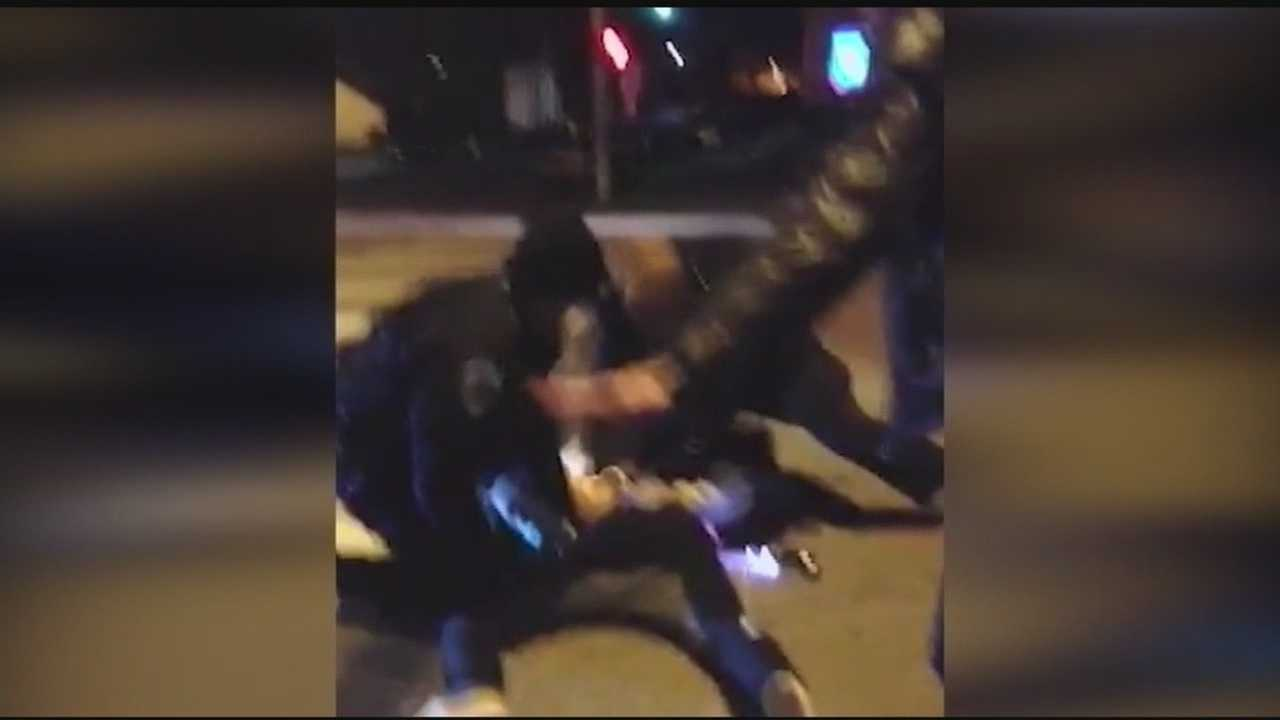 Officer appears to punch man in back during arrest
