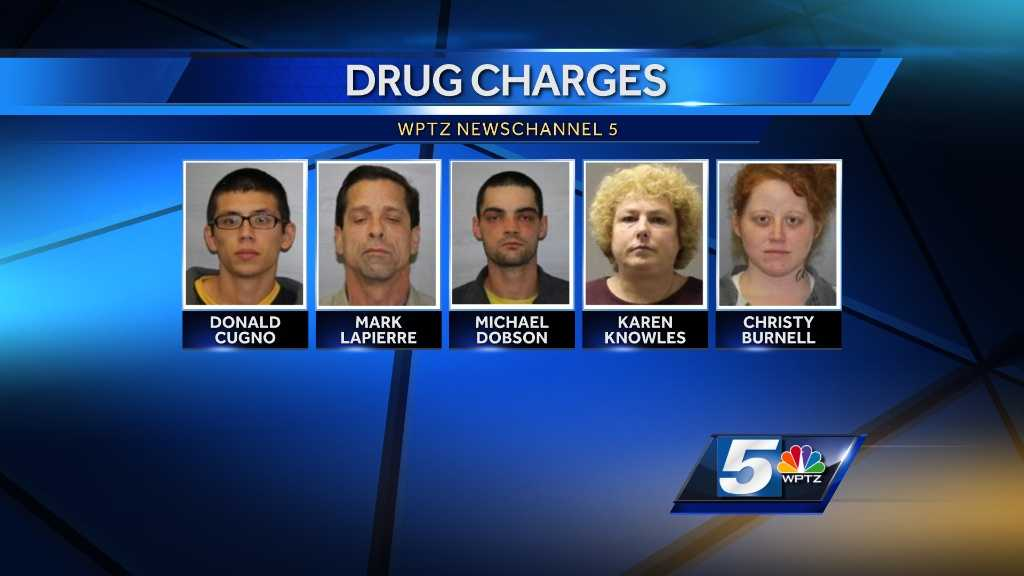 New York State Police have arrested five people on drug charges following an investigation.