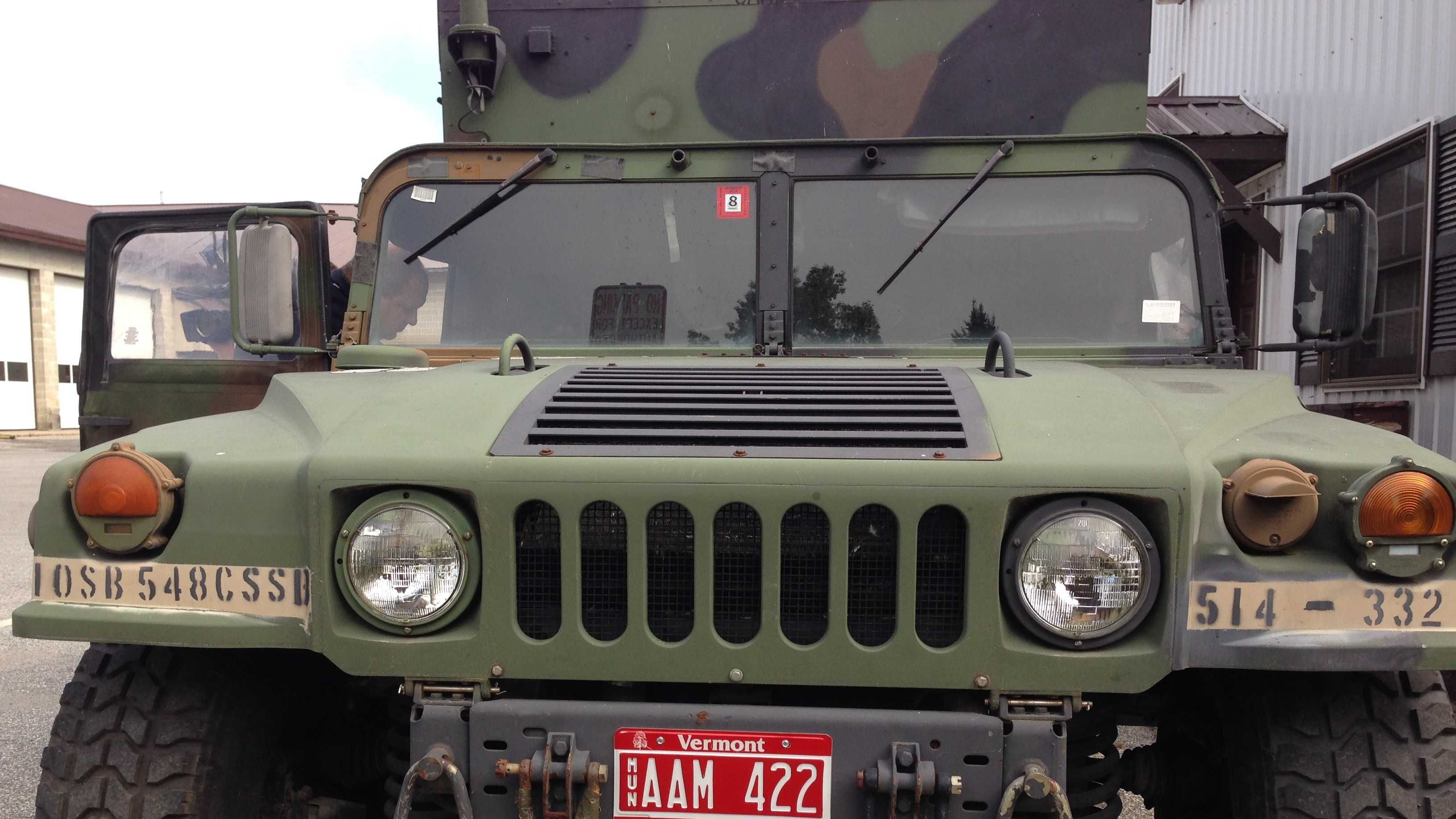 One of two military Humvee trucks the village of Swanton secured through the Pentagon's 1033 program.