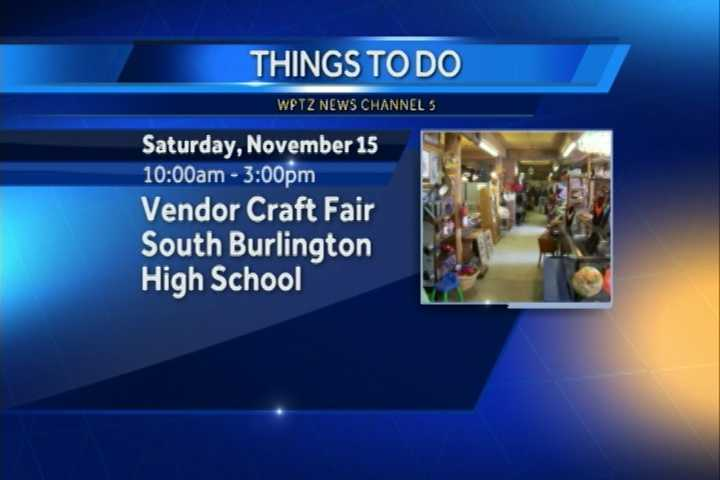 The vendor craft fair to benefit All Breed Rescue goes from 10 a.m. to 3 p.m. at the South Burlington High School.