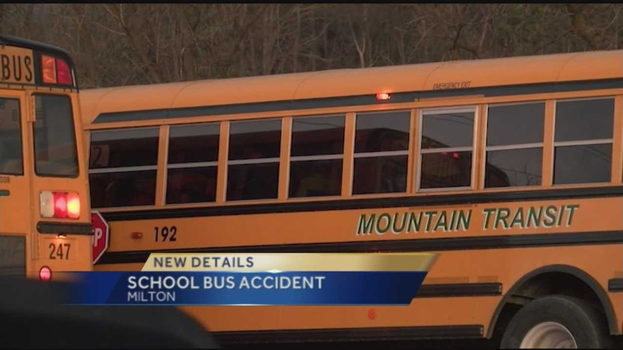 An accident involving a school bus shuts down part of Route 7 in Milton on Tuesday afternoon.