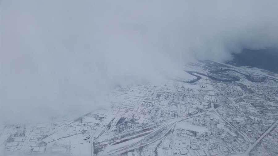 Jeffrey Suhr said he took this photo moments after taking off from Buffalo Tuesday morning.