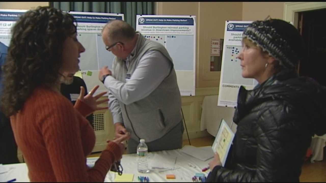 On Wednesday night Burlington residents had the chance to speak out and give feedback about parking.