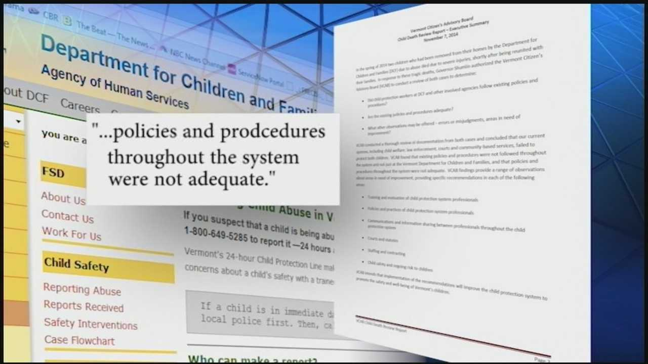 A citizens advisory report slams the Department for Children and Families.