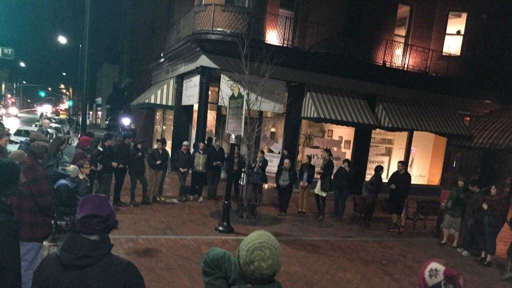People in Burlington upset with the grand jury's decision not to indict the Ferguson police officer, decided to protest.