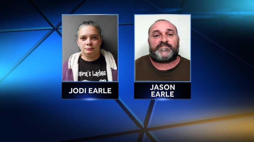 Vermont State Police arrested Jodi Earle, 36, and Jason Earle, 43, on Nov. 24, 2014 for allegedly sexually assaulting a 13-year-old boy at their Eden, Vt. home in Oct. 2013. Police say the couple are also charged with furnishing alcohol to a minor and contributing to the delinquency of a minor.