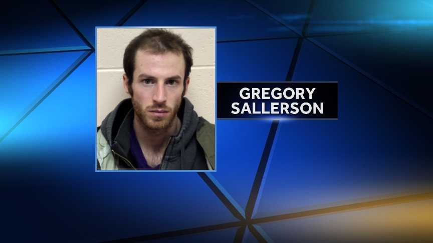 Gregory Sallerson, 24, of Fayston, Vermont, was arrested by Vermont State Police on Nov. 28, 2014 for allegedly walking down the center line of Vt. Route 100 and refusing to move. Sallerson was charged with disorderly conduct.