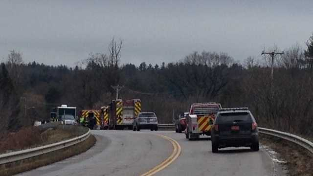 Police and emergency crews are on the scene of an apparent suicide in the area of the North Williston Road Bridge in Essex, Vt.