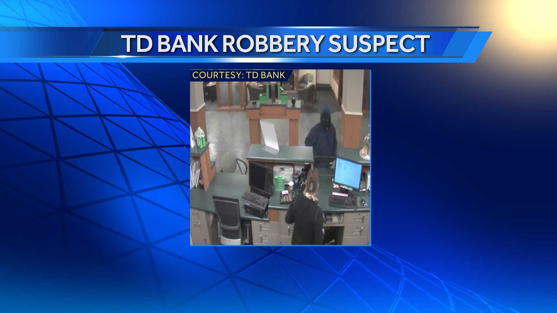 St. Albans Police are searching for a man believed to have robbed the TD Bank on North Main Street late Wednesday.