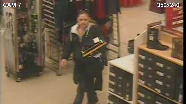 South Burlington Police are looking to identify this woman. Police say she stole several hundred dollars' worth of merchandise from Sears in the University Mall.