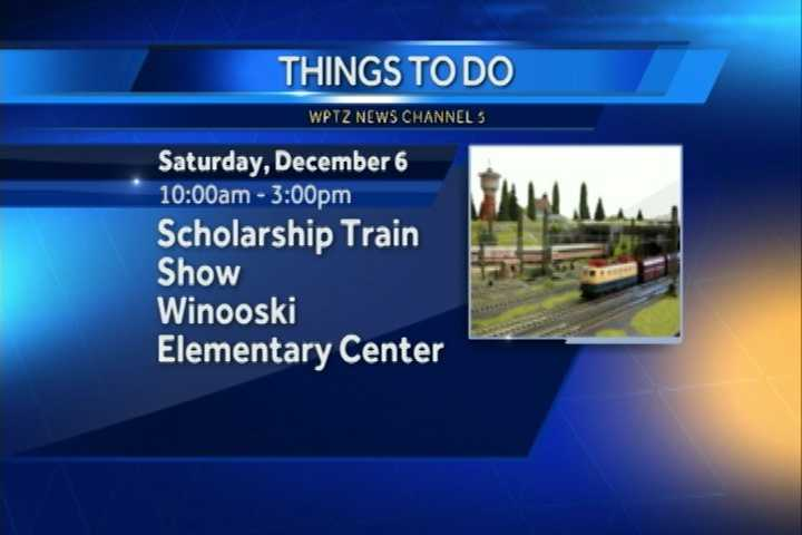 The 21st annual Winooski Scholarship Train Show is from 10 a.m. to 3 p.m. at the Winooski Elementary Center. The show will feature operating layouts, railroad books and videos, toy train dealers and more.