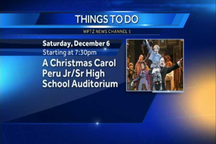 "The Peru Drama Club is performing ""A Christmas Carol"" at 7:30 p.m. at the Peru High School auditorium."