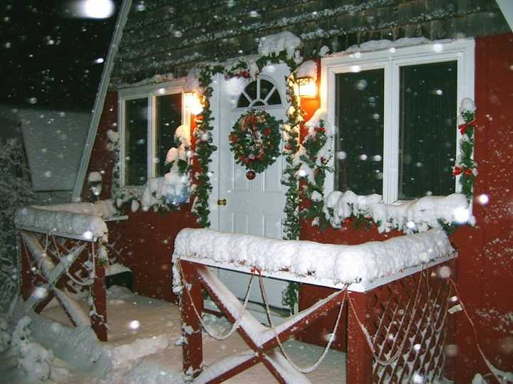 Maureen Faubert's snow in Malone.