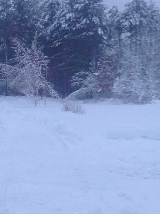 Cass Howard's snow in AuSable Forks. Says they got 7.25 inches in the first round.