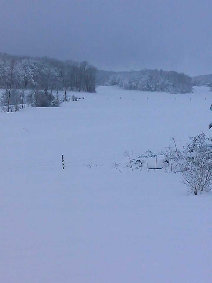 Michelle shared this photo of a beautiful field in New Haven. That's enough snow to build a fleet of snow people. The possibilities......