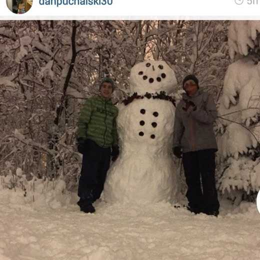 15 inches of snow fell in Plattsburgh. Barely enough to build this ENORMOUS snow man.