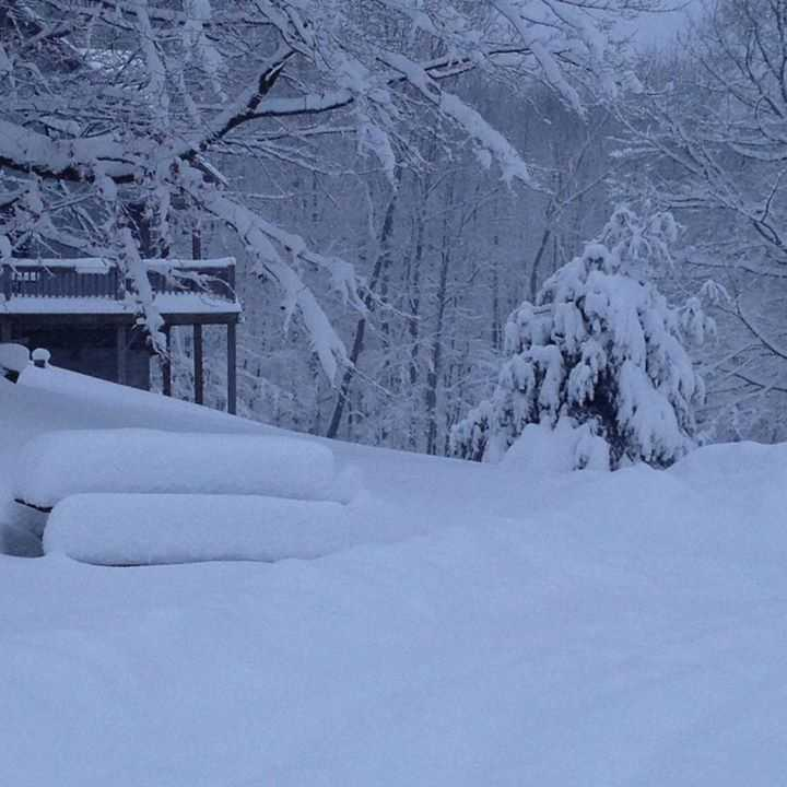 Looks like Bangor, New York got a lot of snow. Photo from Jean French.