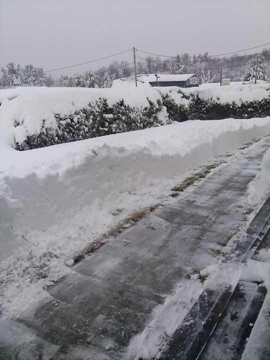 Hopefully Rebecca Pulsifer Sandberg in Keeseville had the help of a snow thrower to clear this road. Otherwise, that is some back breaking work!