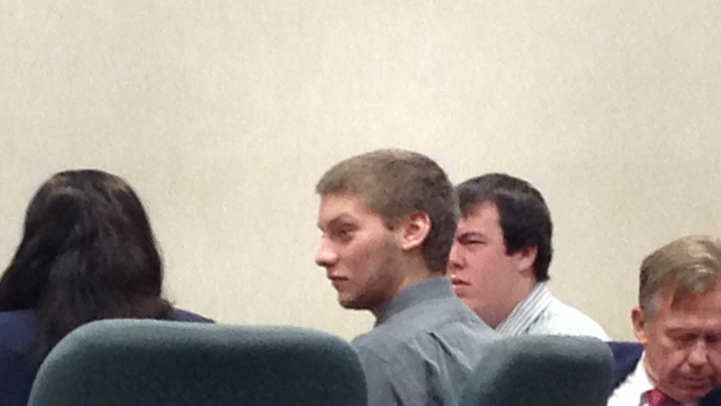 Colby Darling , left, and Brian Lasell at Tuesday's sentencing in Burlington.