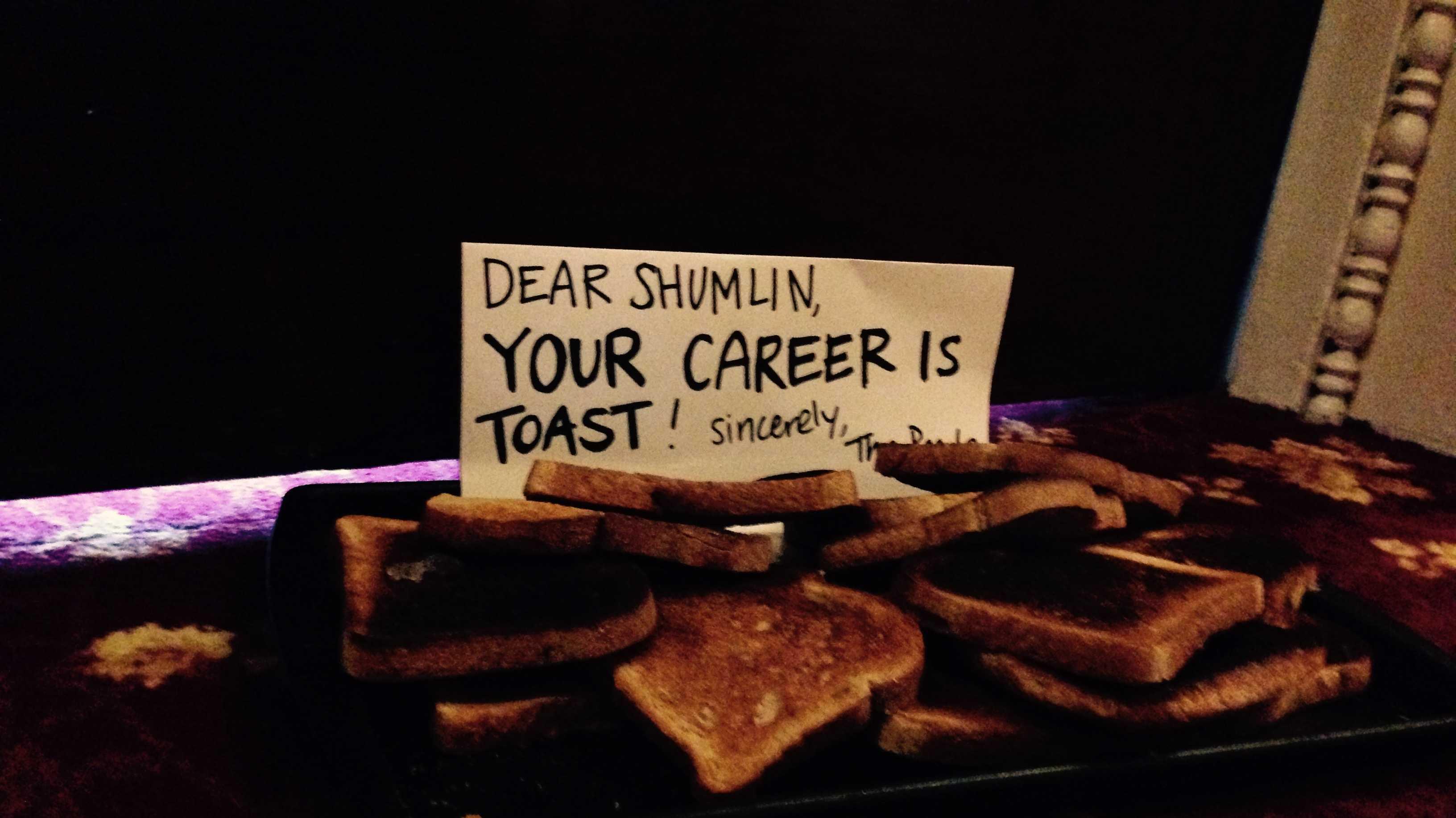 Message left outside Gov. Peter Shumlin's Statehouse door.