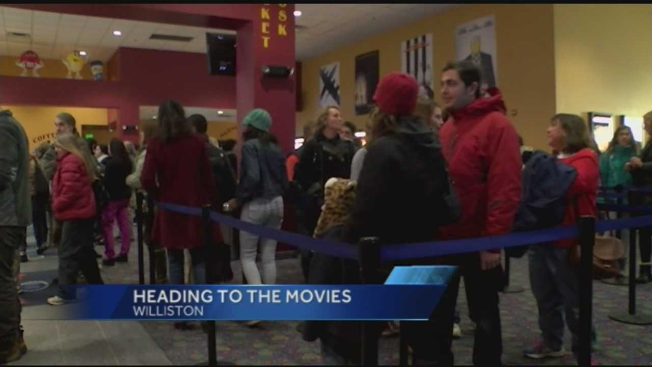 Theaters in Vermont and New York were packed and the lines were long. For some people it is a tradition to go to the movies on Christmas.