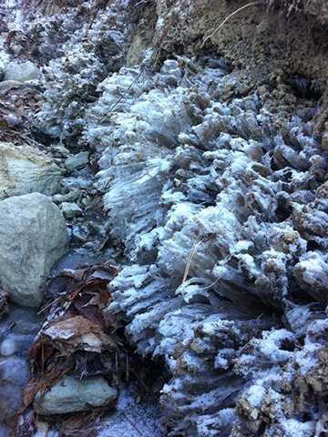 Daniel Stone photographed ice in Starksboro, Vt.