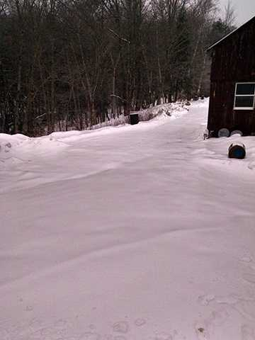 Janet Stevens Bonnell reported about 3 inches of snow in Bethel Lympus, Vt.