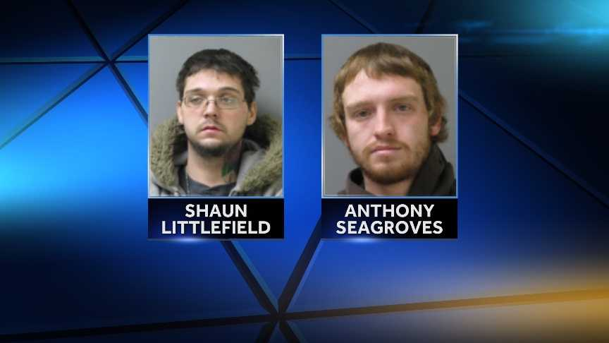 Shaun Littlefield, 26, of Essex, Vermont and Anthony Seagroves, 23, of Colchester accused of breaking into a home between Dec. 30th and Dec. 31st and stealing all of the copper piping and several power tools.