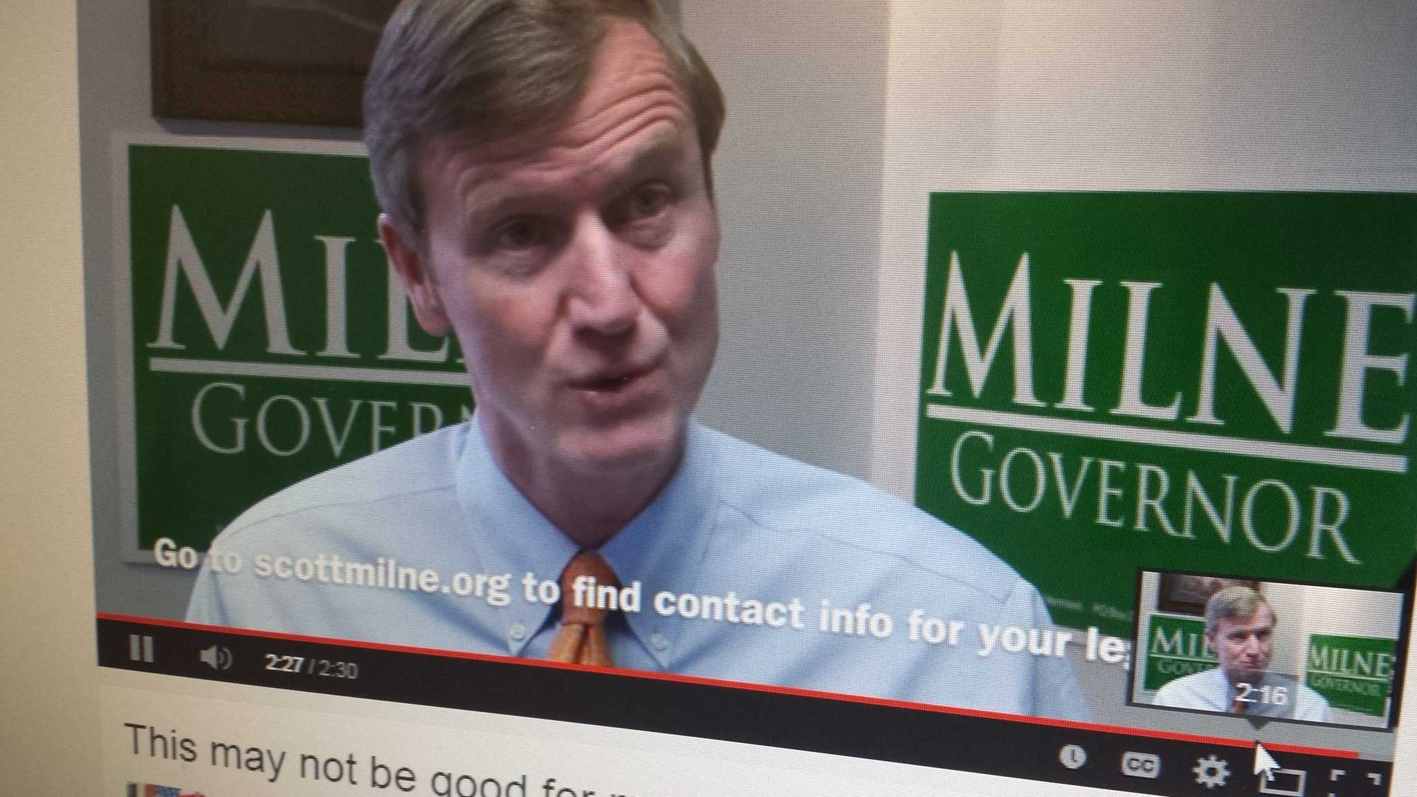 On social media, Scott Milne appeals for support ahead of Thursday's Statehouse election for governor.