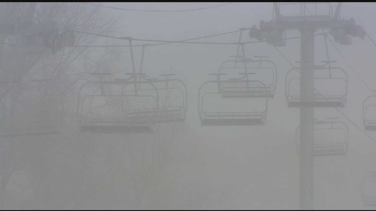 Bolton Valley is one of the few area ski resorts that offers night skiing, but Wednesday they had to close early because of the freezing temps.