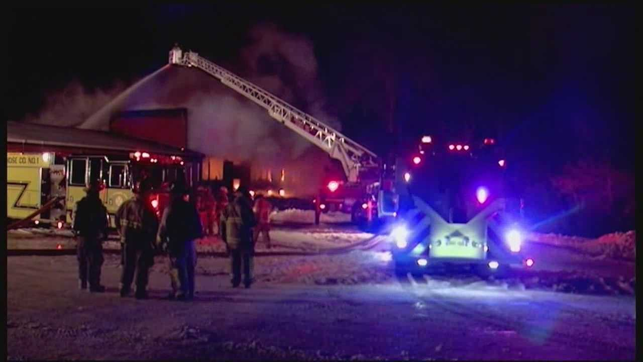 Fire leaves old school building destroyed