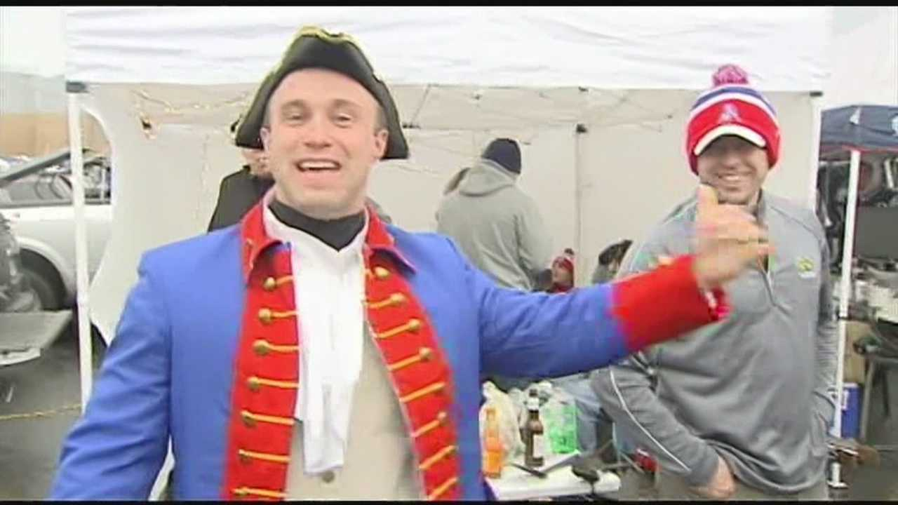 AFC Championship game tailgaters welcome WPTZ's Ken Drake to join the fun.
