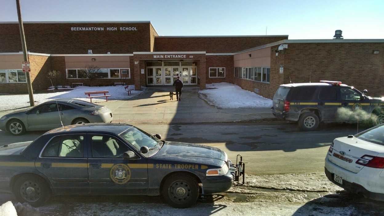 Police investigate a threat made at Beekmantown High School