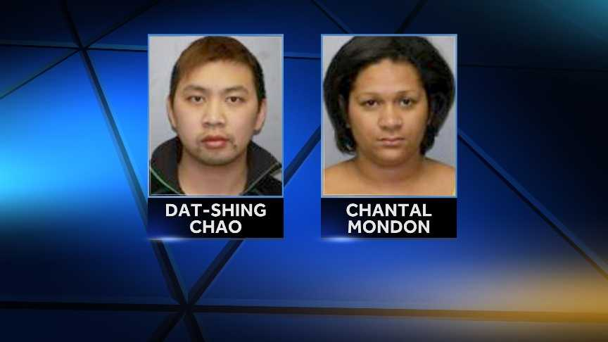 New York State Police arrested 35-year-old Chantal L. Mondon and 26-year-old Dat-Shing Chao in Massena, N.Y.  Both were charged with first-degree marijuana possession.