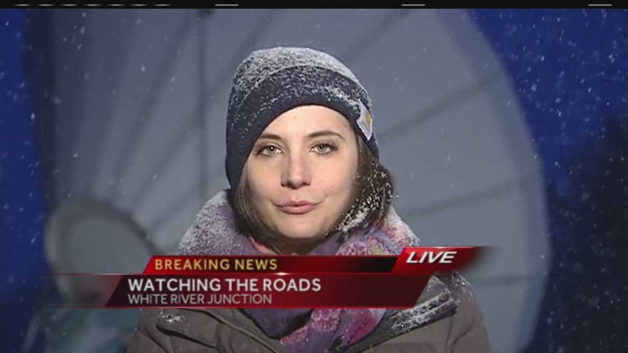 Winter driving warnings are in place for the entire state of New Hampshire and visibility is low on the roads in some southern Vermont counties.  WPTZ's Vanessa Misciagna has the latest on the road conditions from White River Junction.