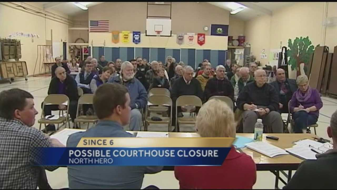 The Grand Isle County Courthouse could be on the chopping block because of budget cuts. At a meeting Monday night, several different people including lawmakers judges, and community members talked about the importance of the courthouse.