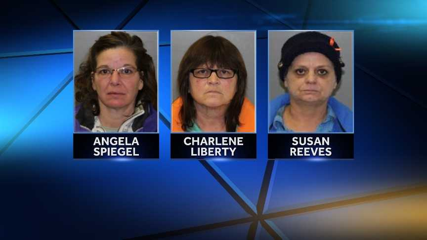 New York State Police arrested 51-year-old Angela Spiegel of Chazy, 54-year-old Charlene Liberty of Peru and 51-year-old Susan Reeves of Plattsburgh on charges of first-degree falsifying business records, first-degree tampering with a public record, first-degree offering a false instrument for filing and second-degree possession of a forged instrument. Reeves faces an additional charge of fourth-degree welfare fraud.
