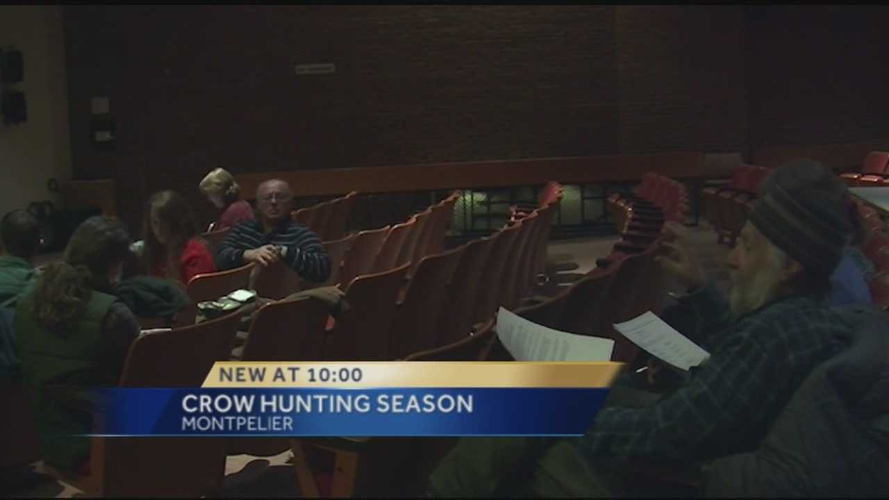 The Vermont Department of Fish and Wildlife is considering changes to the state's crow hunting season. Tuesday night the Fish and Wildlife board held a public hearing about the issue.
