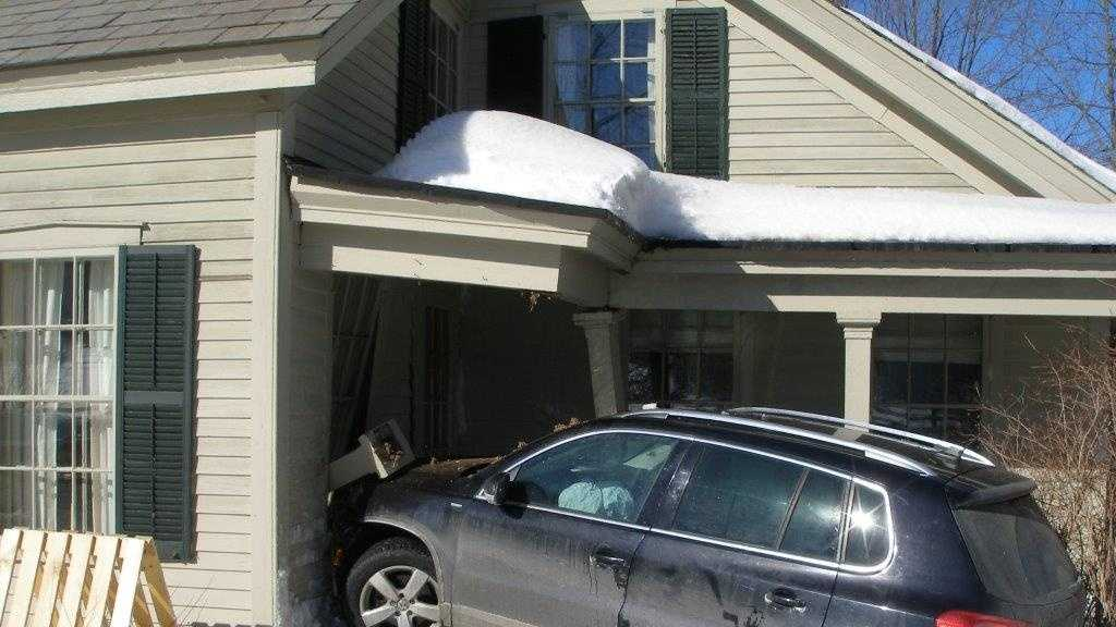 A Dorset man was cited after a crashing his car into a home and fleeing the scene.