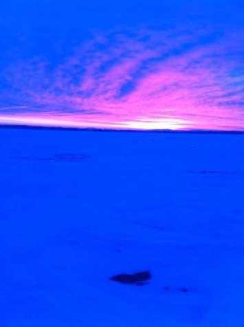Joseph says it's a nice morning for ice fishing in Nickel Bay.