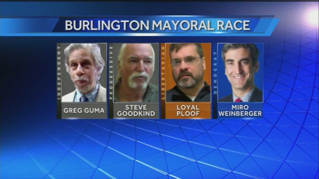 Voters in Burlington are heading to the polls for Town Meeting Day on Tuesday. Candidates for mayor of the Queen City are making every last push they can to secure votes.