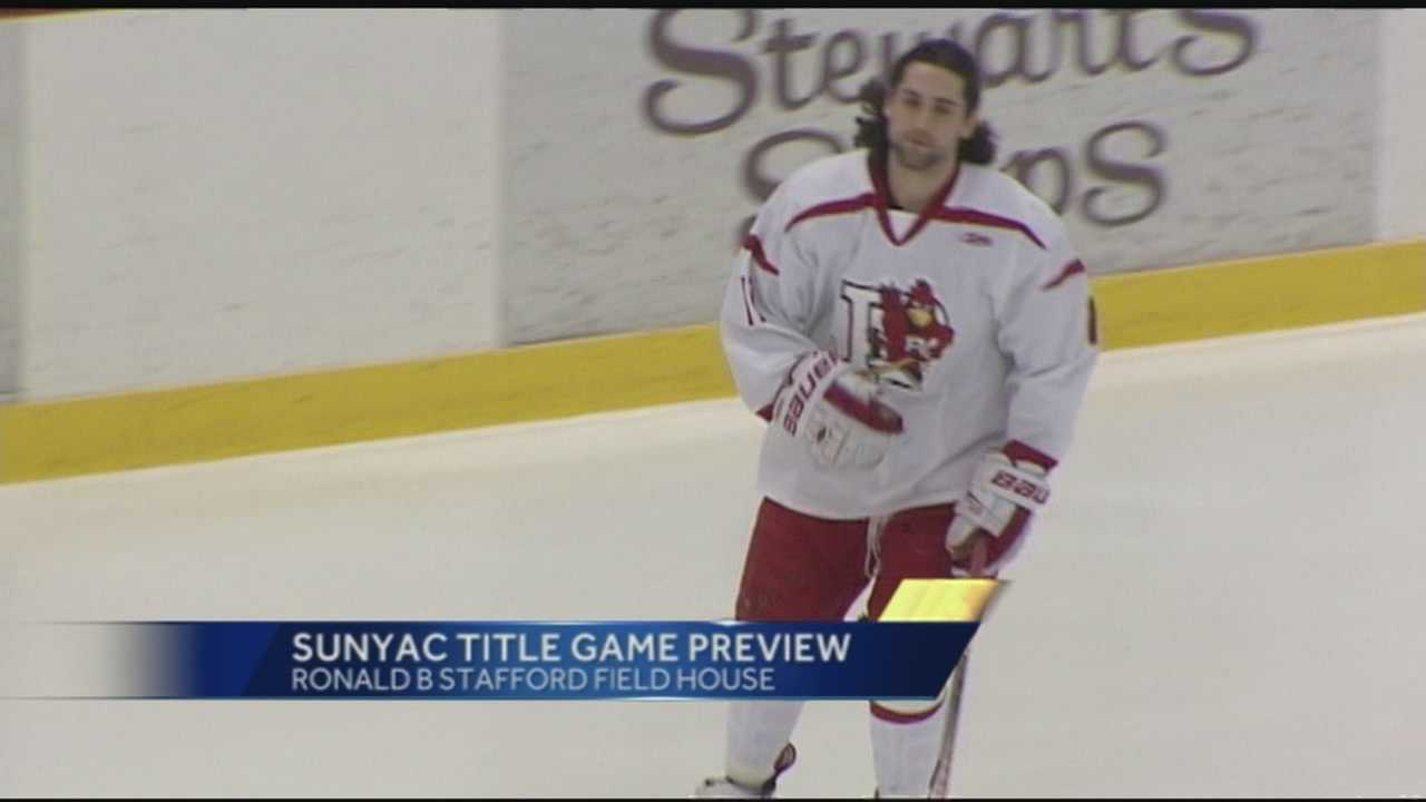 WPTZ's Ken Drake Previews tonight's men's hockey match between Plattsburgh and Oswego at Ronnie B Stafford Field House