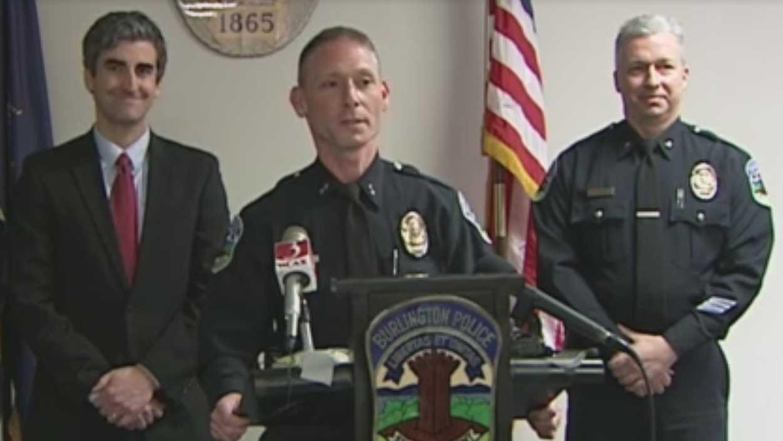 Burlington Police Chief Mike Schirling announces his retirement.