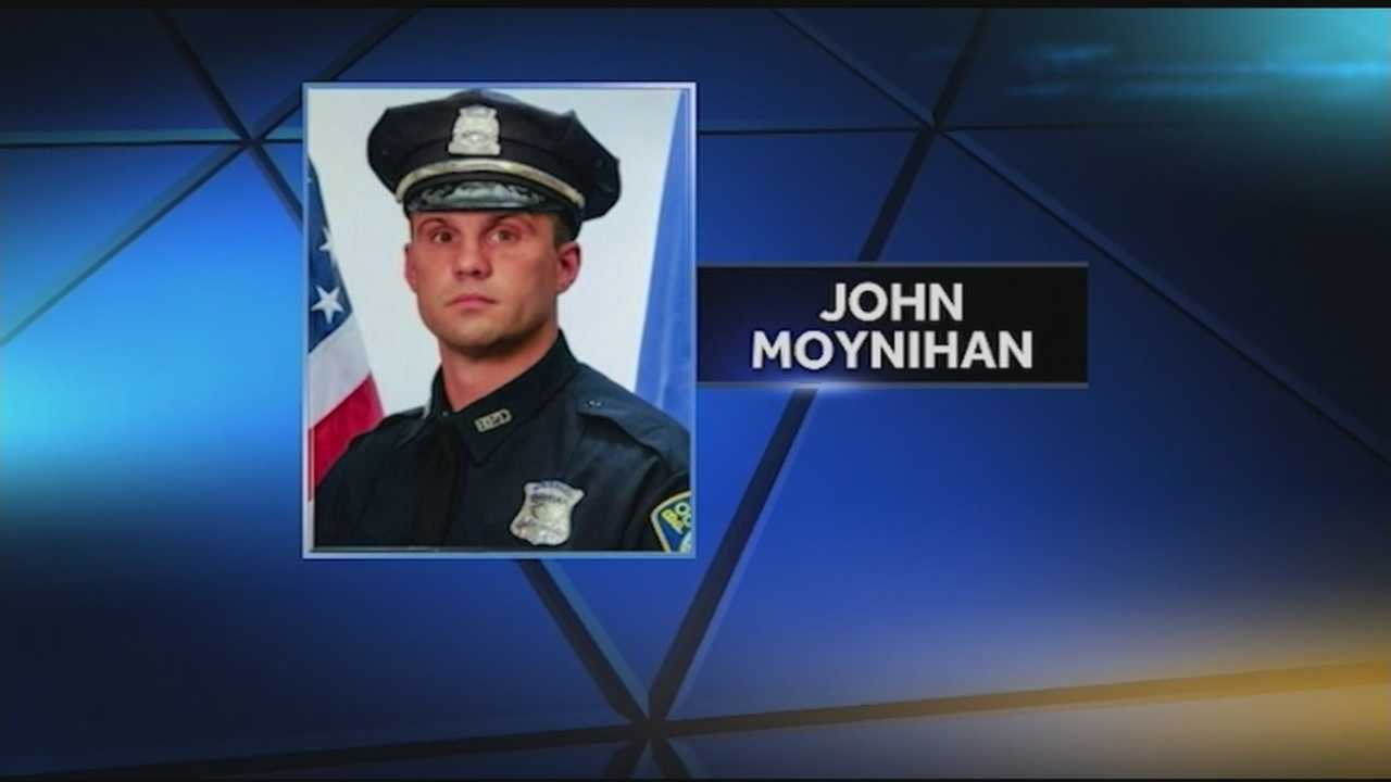 Officer John Moynihan was shot in the face during a traffic stop in Boston